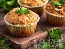 Рецепта Солени мъфини с тиквички и сирене